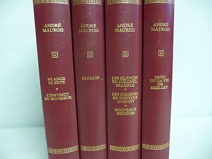 4 Livres ANDRE MAUROIS par PIERRE DE TARTAS Editions Rombaldi de 1967