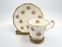 Elizabethan Bone China Hampshire Small Rose Pattern Tea Cup & Saucer