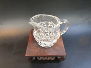 Vintage Cut Glass Small Milk Creamer Jug