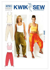 Kwik Sew Sewing Pattern 3701 Misses' Harem Baggy Lounge Pants & Tank Tops XS-XL