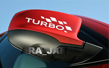 TURBO Vinyl Decal Sport racing sticker car logo emblem mirror motorsport PAIR