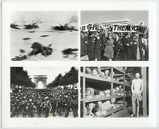 Robert Capa Man in Surf, D-Day Etc. ICONIC WWII Images 4-Frame Press Photo