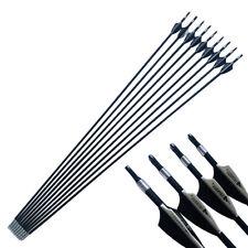 12PCS 30'' SP1500 ID4.2mm Bogenschießen Carbon Pfeile Schäfte Bogen Arrows