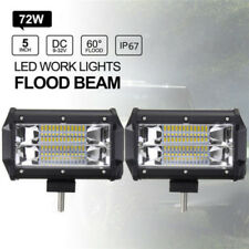 72W LED Work Light Bar Flood Beam DRL Fog Lamp Offroad SUV 4WD Boat DC10~48V