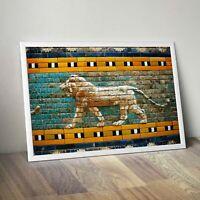 Striding Lion of Ishtar Gate Poster - Babylonian/Sumerian/Assyrian/Anunnaki