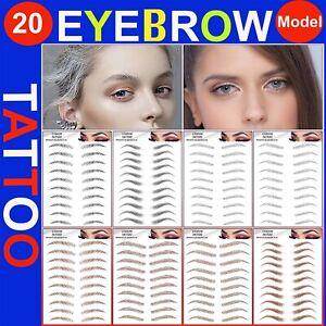 💙6D Eyebrows Tattoo Real Look Sticker False Eyebrow Waterproof Stick On Makeup
