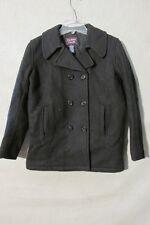 V7160 Class Club Black Wool Blend Trench Coat Women's M