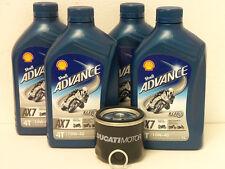 Shell Advance AX7 4T 10W-40 teilsyn / Original Ölfilter Ducati 748 749 750 alle