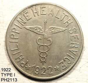 PHILIPPINES Culion Leper Colony Peso 1922 STRAIGHT WING Free Shipping in U. S>