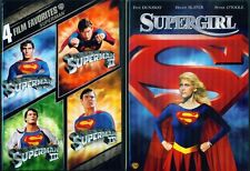 SUPERMAN 1-2-3-4+ Donner Cut+ Supergirl- Christopher Reeve- 6 Film- NEW DVD
