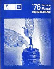 1976 Pontiac Catalina Grand Prix Lemans Shop Service Repair Manual Supplement