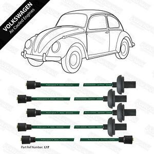 Volkswagen Air Cooled 1100cc-1600cc Performance Double Silicone Green HT Leads