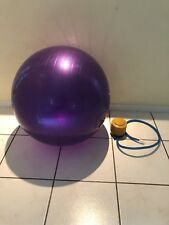 "purple excessive Ball gym yoga fitness w/ air pump.....  55"" inch."