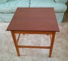 RETRO TEAK STYLE SQUARE WOODEN TABLE /COFFEE/CARD OR PUZZEL TABLE OR TV STAND