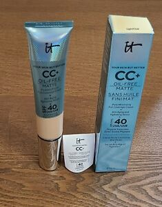 It cosmetics Your skin But Better CC+Oil Free Matte SPF 40,Light/Clair,EXP 02/24
