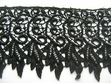 Black Venise Lace Trim 1 Metre    Sewing/Costume/Crafts/Corsetry