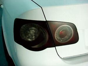 Car Headlight Lamp Film Mat Black Smoke 100cm x 30cm tail light tint foil