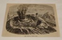 1876 magazine engraving ~ VOLCANO OF ANTUJO, Chile
