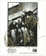 SLAYER FULL BAND SIGNED PHOTO 8X10 RP AUTOGRAPHED ALL MEMBERS
