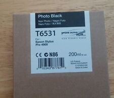 12-2014 New Genuine Epson T6531 200ml Photo Black Ultrachrome HDR Ink 4900