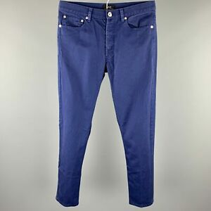 A.P.C. Size 29 Blue Cotton Button Fly Skinny Jeans