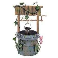 Secret Garden Fairy Wishing Well Pixie Cottage House Magical Troll Feature
