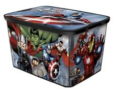 Set Of 2 Marvel Avengers LARGE Container Storage Bins w/ Lids DISCONTINUED HTF