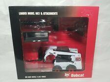 Bobcat 863 Skid Loader & Attachments Wan Ho 6900569 Diecast 1:25 Scale Model NIB