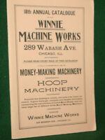 Winnie Machine Works Catalog 18 Hoop Machinery Chicago 1991 Reprint Inv#HKG8