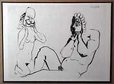 PABLO PICASSO 1954 ENGRAVING w/COA. CLASSIC & UNIQUE, MUST HAVE VERY RARE ART