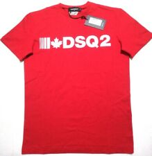 NEW DSQUARED2  RED MENS T-SHIRT SIZE 2XL
