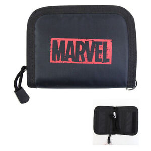 MARVEL Neck Strap Wallet with Neck Strap 2-fold Wallet (with Card/Coin) Black