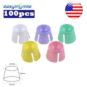 100Pc Dental Multi-purpose Disposable Dappen Dish/Bowl Assorted Color 23*23*32MM