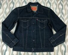 Levi's Men's Denim Jean Jacket Trucker Dark Wash Blue Size M Medium