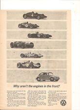 ORIGINAL VINTAGE 1963 VOLKSWAGEN BEETLE AUSTRALIAN ADVERT