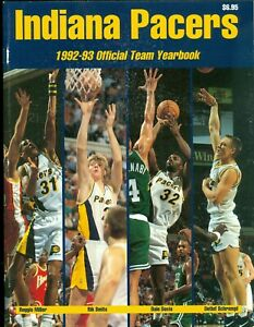 1992-93 Indiana Pacers Official Team Yearbook Reggie Miller Rik Smits Dale Davis