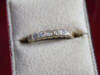 LADIES 9CT GOLD & GENUINE DIAMOND RING. Size N. 9CT DIA 375 !!! STUNNING !!!
