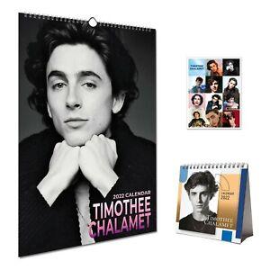 Timothee Chalamet Bundle 2022 Wall Calendar, Desktop Calendar & Gift 12 Stickers