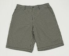 Adidas Golf Dark Brown Plaid Casual Tech Blend Golf Shorts Mens 36