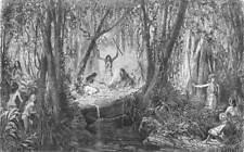 BRAZIL. Trombetas. Forest Fete 1880 old antique vintage print picture