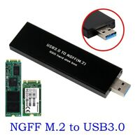 USB3.0 TO M.2 NGFF SSD External Enclosure Storage Case Adapter Aluminium