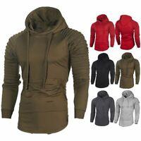 Men Winter Warm Hoodies Slim Fit Hooded Sweatshirt Sweater Coat Jacket Outwear