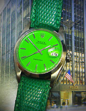 Rolex Oysterdate Precision Steel Green Dial/Strap Automatic Mens Watch 6694