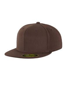 Flexfit Premium 210 Fitted Cap Braun S/M Brown Kappe Mütze NEU