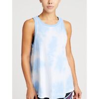 NWT Soul Cycle Sundry Womens Blue White Tie Dye Ringer Tank Top Size Small