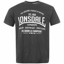 Lonsdale Mens Box T Shirt Short Sleeve Round Neck Casual Tee Top Clothing
