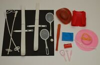 Vintage 1970s Lot B CLONE ACCESSORIES Barbie Ken * Cowboy Skis Tennis & More