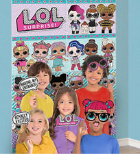 LOL SURPRISE GIRLS Scene Setter  BIRTHDAY party BACKDROP poster 12 photo props