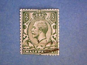 GB. KGV 1913 ½d Bright Green. SG397. Wmk W103. P15 x 14. Used. Second.
