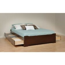 Prepac Fremont Collection Home Decor Full Platform Wood Storage Bed w/ 6-Drawers